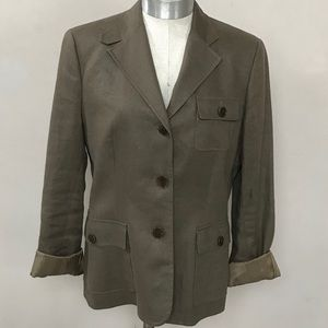Brown Ralph Lauren 100% Linen Jacket Size 4